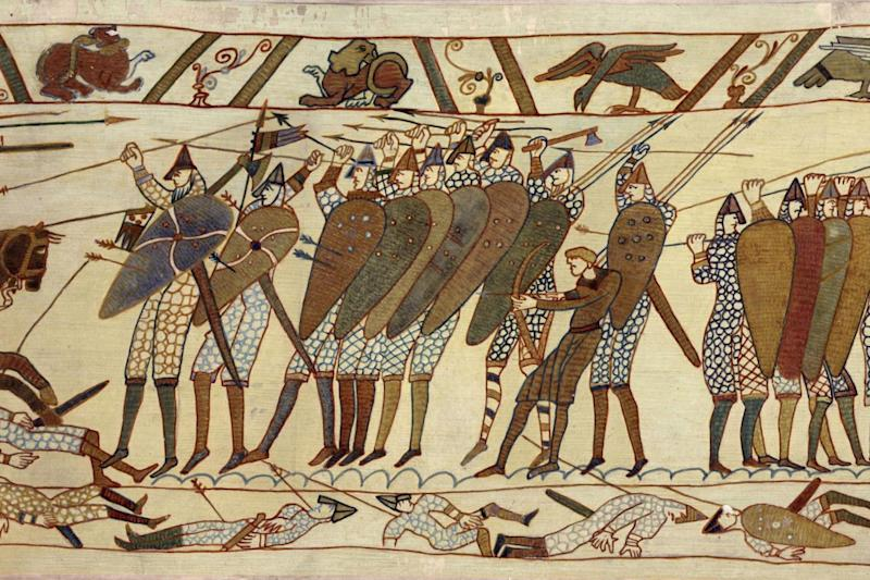 Bayeux Tapestry: the artwork depicts the Battle of Hastings and the Norman conquest of England: Getty Images