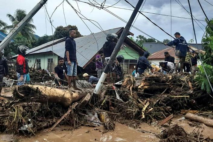 Torrential rains from Tropical Cyclone Seroja turned small communities into wastelands of mud and uprooted trees