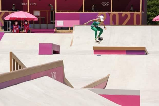 Letícia Bufoni is a 28-year-old skateboarder from Sao Paulo, Brazil, who is considered one of the favourites to win a medal in the street competition. Skateboarding is one of several new sports added to the Olympics in an attempt to attract younger audiences. (Jason Burles/CBC - image credit)