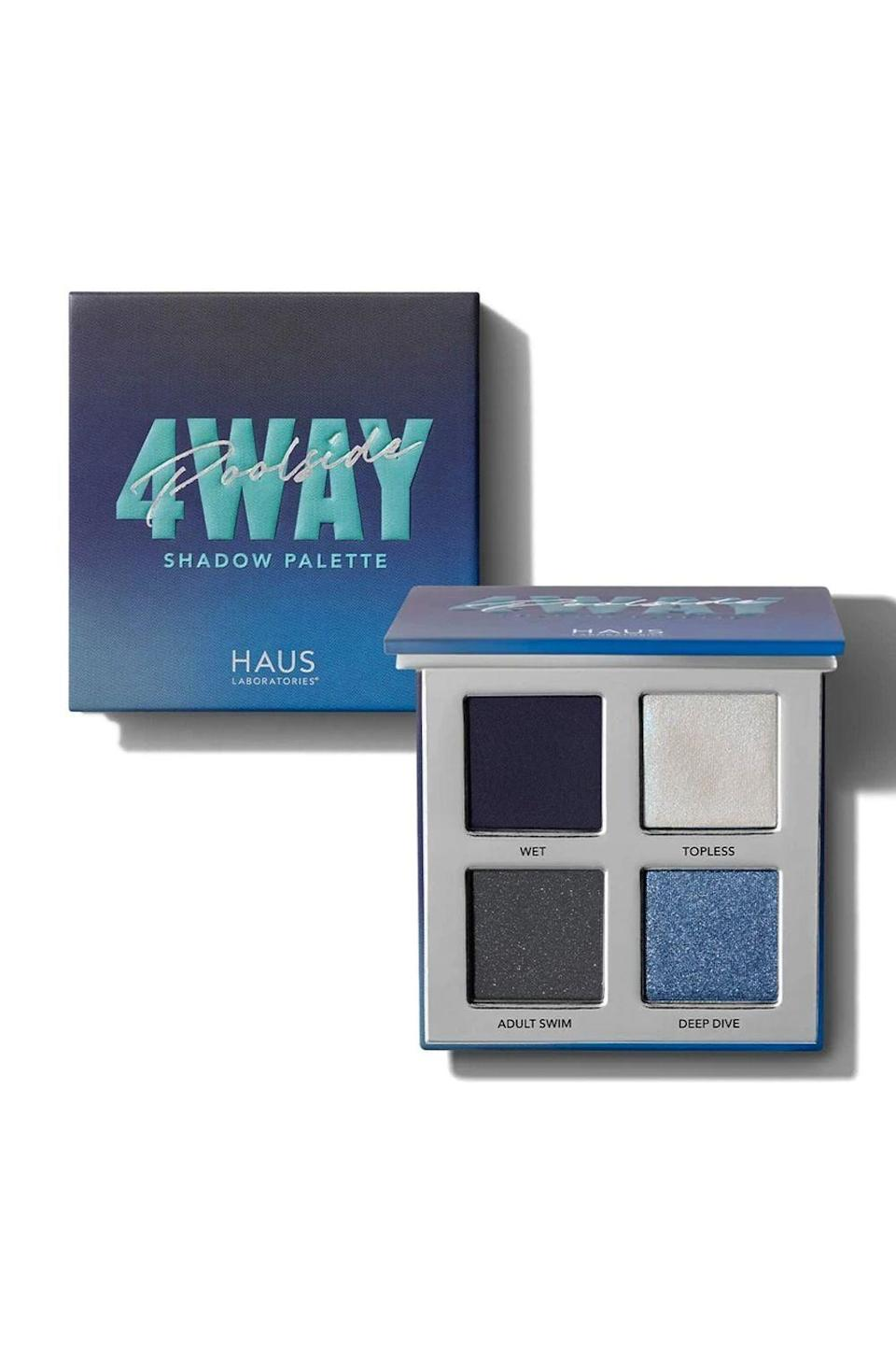 "<p><strong>HAUS LABORATORIES</strong></p><p>hauslabs.com</p><p><strong>$24.00</strong></p><p><a href=""https://www.hauslabs.com/products/four-way-shadow-palette?variant=33470854135896"" rel=""nofollow noopener"" target=""_blank"" data-ylk=""slk:Shop Now"" class=""link rapid-noclick-resp"">Shop Now</a></p><p>No matter what mood you're in, this <a href=""https://www.cosmopolitan.com/style-beauty/beauty/g13108425/eyeshadow-palette-sets/"" rel=""nofollow noopener"" target=""_blank"" data-ylk=""slk:eyeshadow palette"" class=""link rapid-noclick-resp"">eyeshadow palette</a> will match your energy. Each pigmented quad has a combo of matte, metallic, and shimmer shadows that <strong>can be turned all the way up or played down for a more subtle look.</strong><br></p><p><strong>✨ PROMOTION:</strong> 20% off (exclusions apply) with promo code <strong>HAULIDAY</strong></p>"