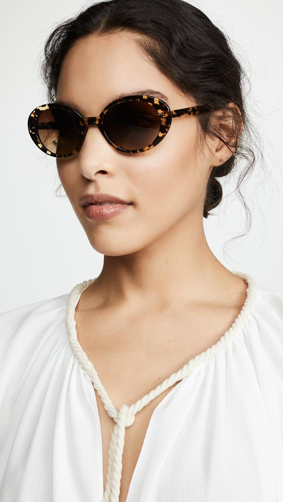 <p>We love the circular look of these <span>Krewe Laurel Sunglasses</span> ($295). They have a retro look that we love, but they're also a great staple shape.</p>