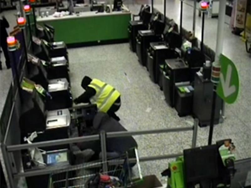 Four men breaking open the self-service machines: West Midlands Police