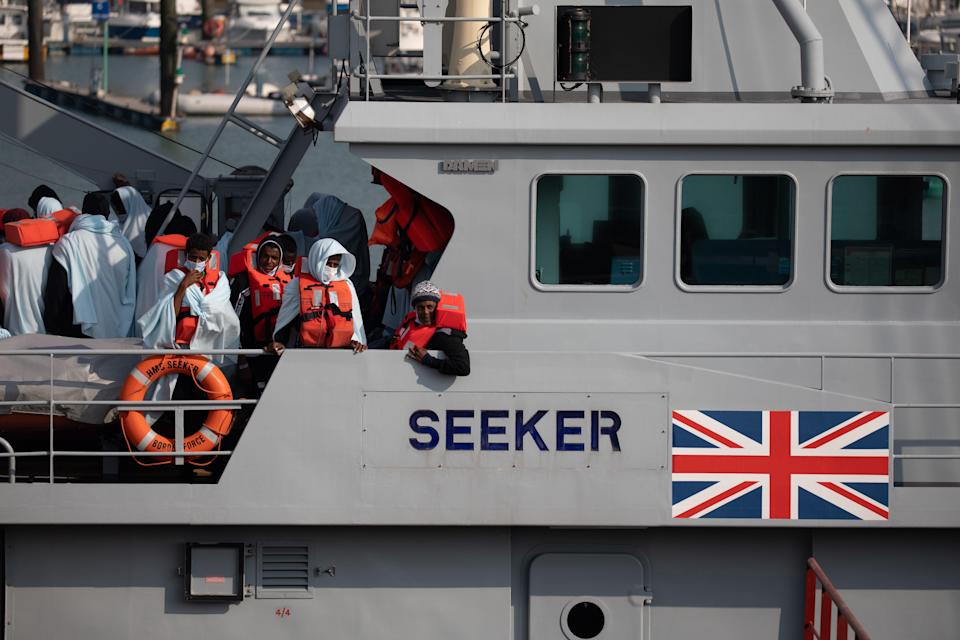 This spring has seen an increase in people making the journey in small boats from France to seek asylum in the UK (Getty)