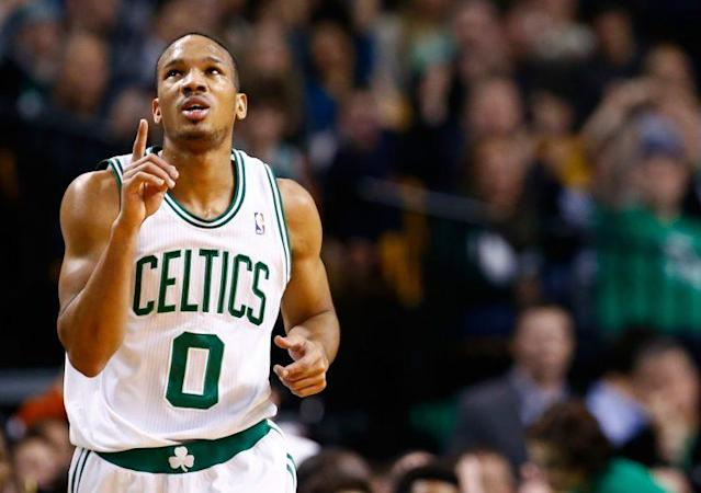 "<a class=""link rapid-noclick-resp"" href=""/nba/players/4750/"" data-ylk=""slk:Avery Bradley"">Avery Bradley</a> will be missed in Boston. (Getty)"