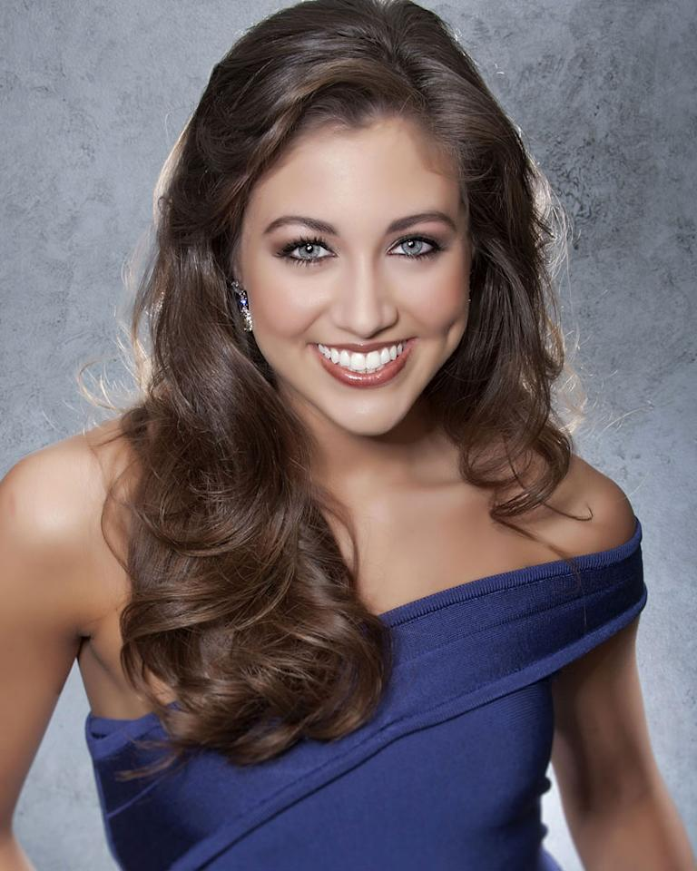 """Miss Iowa, Jessica Pray is a contestant in the """"<a href=""""/2012-miss-america-pageant/show/48165"""">2012 Miss America Pageant</a>."""""""
