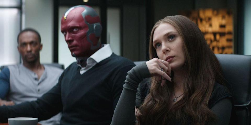 Vision gets a style makeover in the new movie compare to Captain America: Civil War