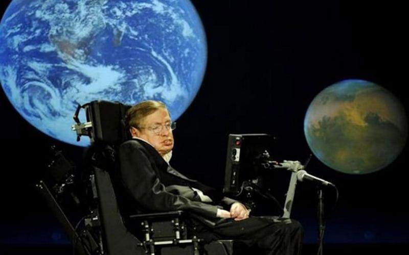 Prof Stephen Hawking has warned that humans must leave Earth within 100 years  - Telegraph