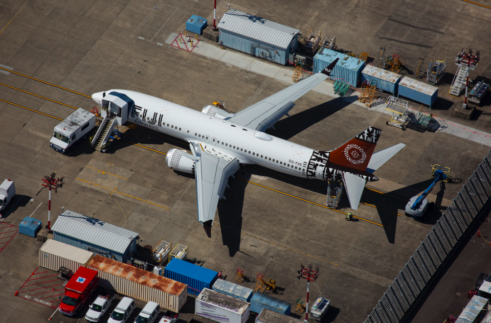 """Boeing 737 Max Planes <a href=""""https://uk.finance.yahoo.com/news/boeing-737-max-suspension-industry-reaction-094022760.html"""" data-ylk=""""slk:were left sitting idle;outcm:mb_qualified_link;_E:mb_qualified_link;ct:story;"""" class=""""link rapid-noclick-resp yahoo-link""""><strong>were left sitting idle</strong></a> as the company continued to work on a software glitch that contributed to two fatal crashes. The crashes in Indonesia and Ethiopia killed a total of 346 people. (Getty("""