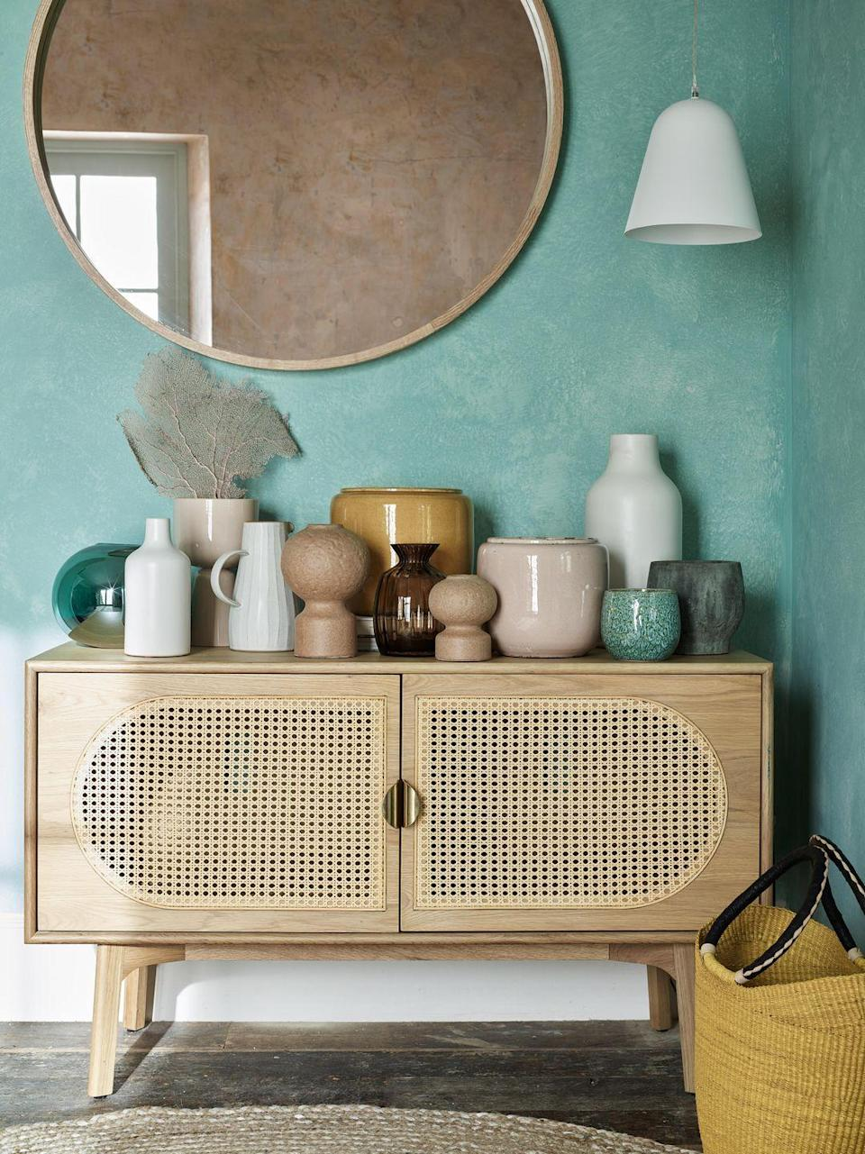 """<p>'The rattan trend isn't going anywhere, and we're going to see much more of it in 2021 as we seek interest and tactility in every finish around the home,' says Wil Law, Partner & Home Design Stylist. 'It can look earthy and humble, at peace with any Scandi, airy room, or sleek and sophisticated, especially when the pale rattan meets a black painted frame.'<br></p><p><a class=""""link rapid-noclick-resp"""" href=""""https://go.redirectingat.com?id=127X1599956&url=https%3A%2F%2Fwww.johnlewis.com%2Fbrowse%2Fhome-garden%2Fnew-in-home%2F_%2FN-7opk&sref=https%3A%2F%2Fwww.housebeautiful.com%2Fuk%2Flifestyle%2Fshopping%2Fg35369005%2Fjohn-lewis-partners-homeware-spring-summer%2F"""" rel=""""nofollow noopener"""" target=""""_blank"""" data-ylk=""""slk:SHOP NOW"""">SHOP NOW</a></p>"""