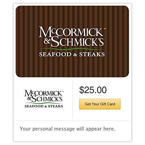 """<p><strong>McCormick & Schmick's</strong></p><p>amazon.com</p><p><strong>$25.00</strong></p><p><a href=""""http://www.amazon.com/dp/B017TH3S4Q/?tag=syn-yahoo-20&ascsubtag=%5Bartid%7C2140.g.19924022%5Bsrc%7Cyahoo-us"""" rel=""""nofollow noopener"""" target=""""_blank"""" data-ylk=""""slk:Shop Now"""" class=""""link rapid-noclick-resp"""">Shop Now</a></p><p>If your parents don't often splurge on a nice dinner out for themselves, treat them to one. If you can be there to take them out in person, even better. </p>"""