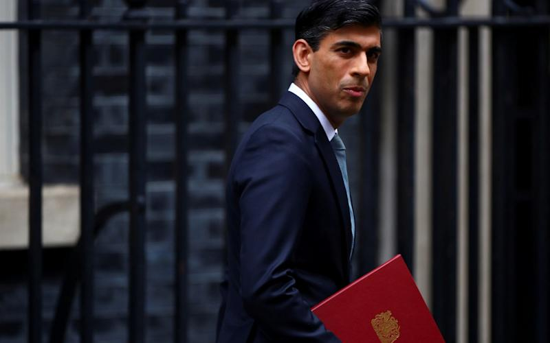 Chancellor of the Exchequer Rishi Sunak leaves Downing Street -  Hannah Mckay/ Reuters