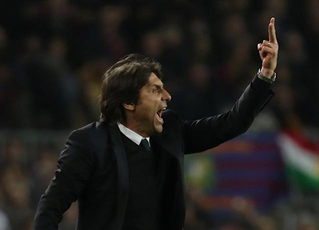 Soccer Football - Champions League Round of 16 Second Leg - FC Barcelona vs Chelsea - Camp Nou, Barcelona, Spain - March 14, 2018 Chelsea manager Antonio Conte REUTERS/Susana Vera