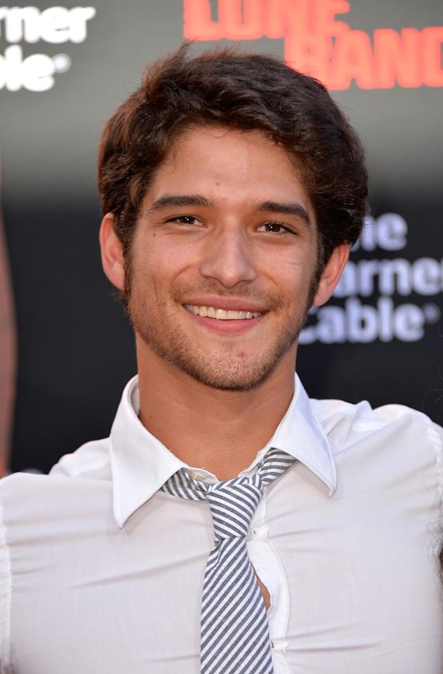 ANAHEIM, CA - JUNE 22: Actor Tyler Posey arrives at the premiere of Walt Disney Pictures' 'The Lone Ranger' at Disney California Adventure Park on June 22, 2013 in Anaheim, California. (Photo by Frazer Harrison/Getty Images)