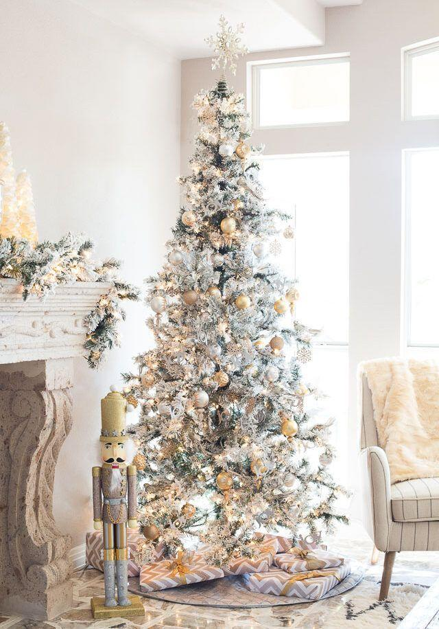 """<p>What could look more elegant than a tree decked out in silver and gold? </p><p><strong><em>Get the tutorial at <a href=""""https://designimprovised.com/2015/11/christmas-family-room-reveal.html"""" rel=""""nofollow noopener"""" target=""""_blank"""" data-ylk=""""slk:Design Improvised"""" class=""""link rapid-noclick-resp"""">Design Improvised</a>. </em></strong></p><p><a class=""""link rapid-noclick-resp"""" href=""""https://www.amazon.com/Sea-Team-Shatterproof-Decorative-Decorations/dp/B072M7DGQJ?tag=syn-yahoo-20&ascsubtag=%5Bartid%7C10070.g.2025%5Bsrc%7Cyahoo-us"""" rel=""""nofollow noopener"""" target=""""_blank"""" data-ylk=""""slk:SHOP GOLD ORNAMENTS"""">SHOP GOLD ORNAMENTS </a></p>"""