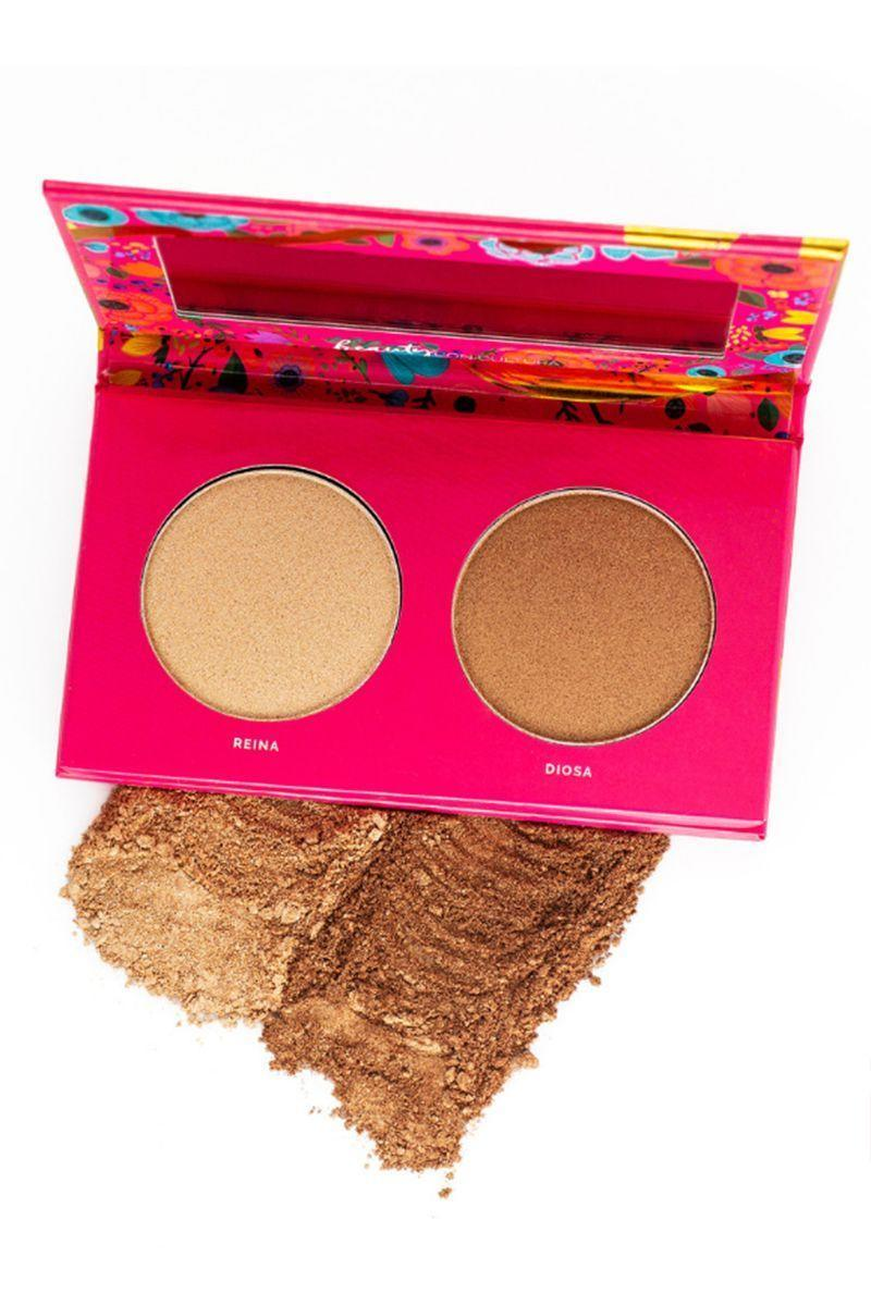 """<p><strong>Vive Cosmetics </strong></p><p>vivecosmetics.com</p><p><strong>$23.00</strong></p><p><a href=""""https://vivecosmetics.com/collections/face/products/luz-glow"""" rel=""""nofollow noopener"""" target=""""_blank"""" data-ylk=""""slk:SHOP"""" class=""""link rapid-noclick-resp"""">SHOP</a></p><p><a href=""""https://vivecosmetics.com/pages/aboutus"""" rel=""""nofollow noopener"""" target=""""_blank"""" data-ylk=""""slk:Joanna Rosario-Rocha and Leslie Valdivia"""" class=""""link rapid-noclick-resp"""">Joanna Rosario-Rocha and Leslie Valdivia</a> started Vive Cosmetics in 2016 after seeing the lack of representation of the Latina/Latinx community in the beauty industry. Along with producing bright and fun makeup, Vive Cosmetics aims to be inclusive of all different skin tones and more representative of people of color. And we are here for it. </p>"""
