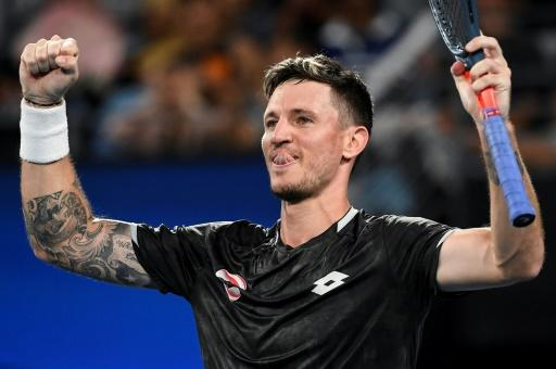 Austria's Dennis Novak was read the riot act by the team coach after losing the first set, but bounced back to beat Guido Pella of Argentina