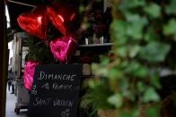 Parisian florists prepare Valentine's Day bouquets in Paris