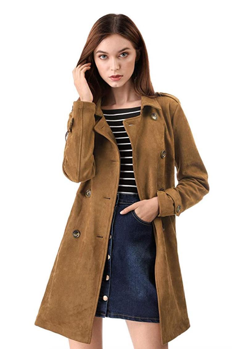 """Keep it timeless with this faux suede duster which can easily be dressed up or down depending on your plans. $59, Amazon. <a href=""""https://www.amazon.com/Allegra-Womens-Double-Breasted-Button/dp/B07H2BCCYH/"""" rel=""""nofollow noopener"""" target=""""_blank"""" data-ylk=""""slk:Get it now!"""" class=""""link rapid-noclick-resp"""">Get it now!</a>"""