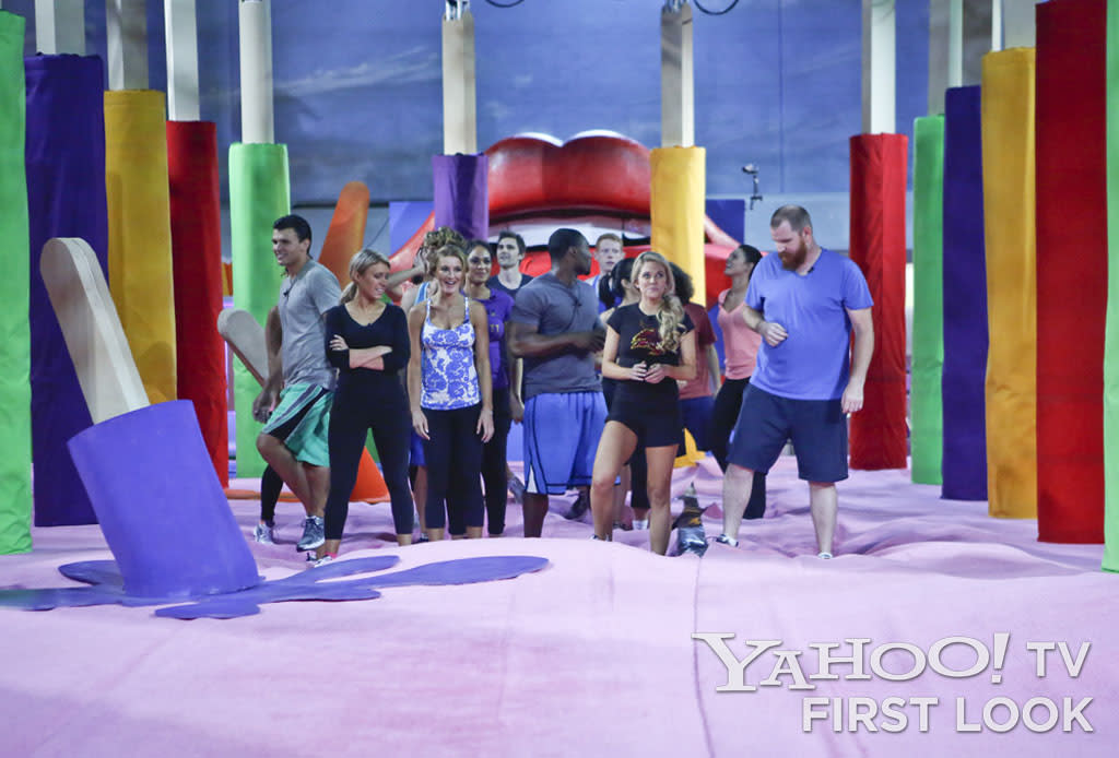 "The houseguests get ready for their first competition during the season premiere of ""Big Brother."""