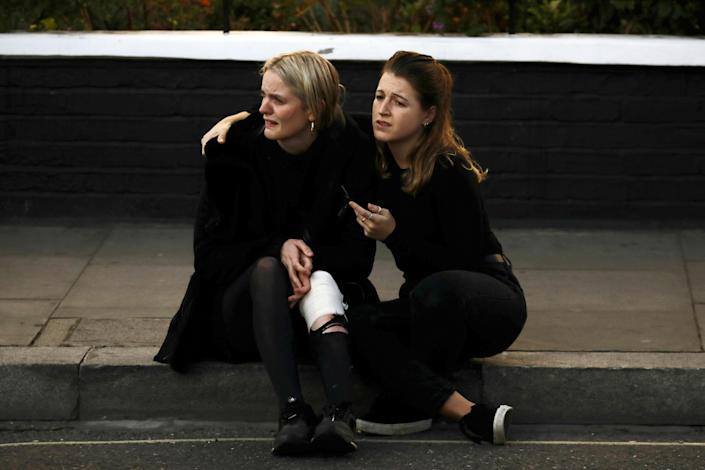 <p>An injured woman reacts outside Parsons Green tube station in London, Britain, Sept. 15, 2017. (Photo: Kevin Coombs/Reuters) </p>