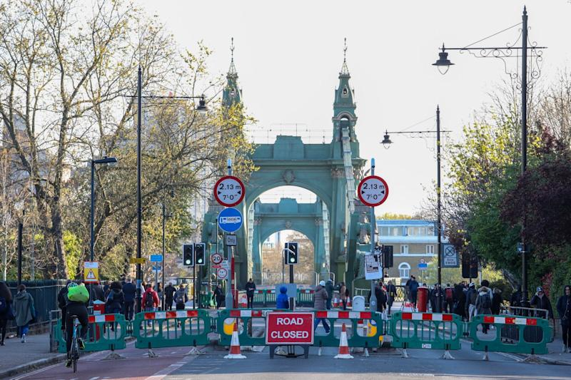 """Critical faults"": Hammersmith Bridge after it was closed (Alex Lentati / Evening Standard)"