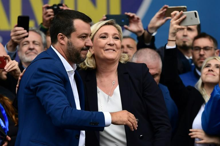 Italy's Deputy Prime Minister Matteo Salvini and Marine Le Pen, head of France's far-right National Rally hope to lead the charge of eurosceptic parties at the EU elections