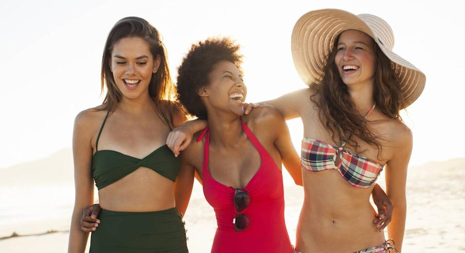 An expert reveals the most flattering swimsuit style for your body shape. (Getty Images)