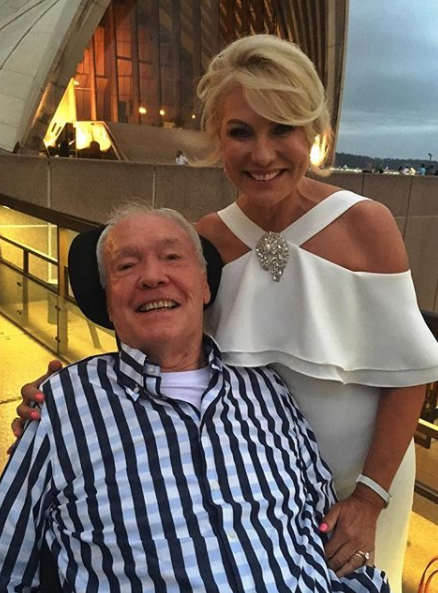 John fractured the C3 and C4 vertebrae in his neck after a shock fall last year. Photo: Instagram/kerriannekennerley