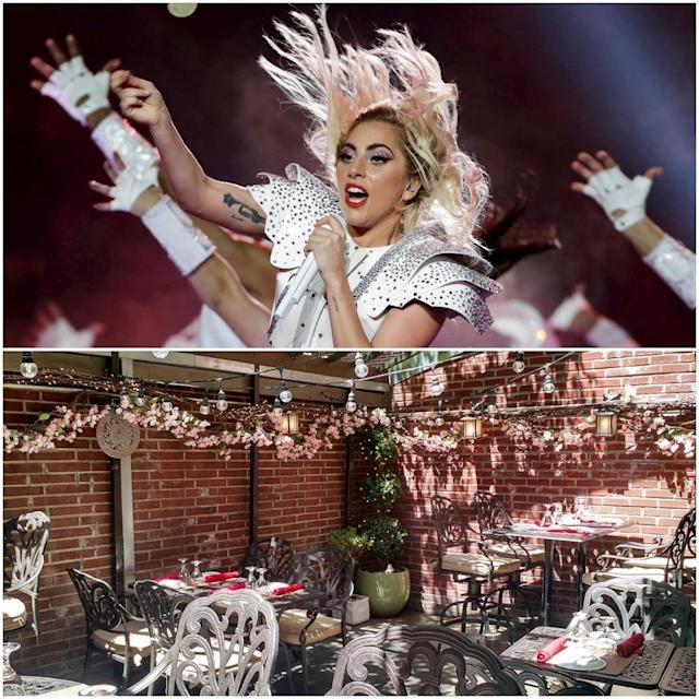 "<p>Lady Gaga co-owns homestyle Italian eatery <a href=""http://www.joannenyc.com/"" rel=""nofollow noopener"" target=""_blank"" data-ylk=""slk:Joanne Trattoria"" class=""link rapid-noclick-resp"">Joanne Trattoria</a> along with her parents on New York City's Upper West Side. <br>(Canadian Press/Twitter) </p>"