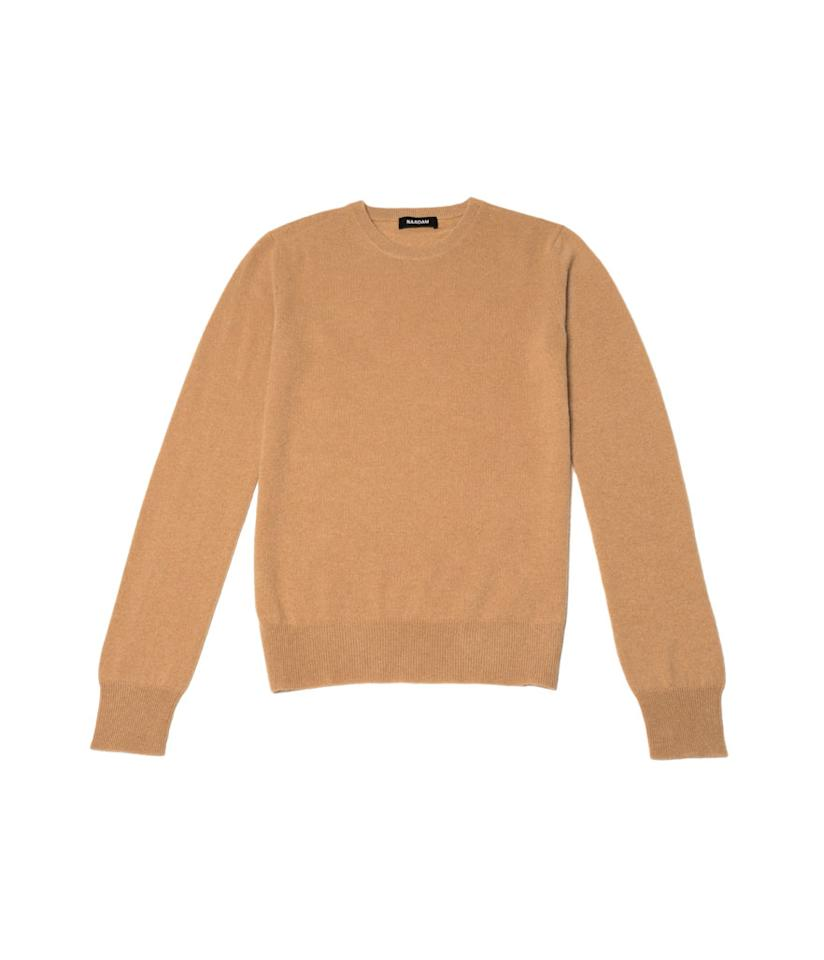 "<p>Naadam makes luxury cashmere sweaters at non-luxury prices. We love this classic version in camel. Style it with black skinny jeans and ankle boots for an A-plus fashion look. <br /><a rel=""nofollow"" href=""https://fave.co/2AIFltp""><strong>Shop it:</strong></a> $75, <a rel=""nofollow"" href=""https://fave.co/2AIFltp"">naadam.co</a> </p>"