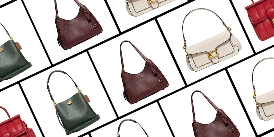"""<p>Ready for a fall bag update, but unsure where to start? Coach has you covered: The label is holding a secret sale where its sharpest <a href=""""https://go.redirectingat.com?id=74968X1596630&url=https%3A%2F%2Fwww.coach.com%2Fshop%2Fsale%2Fevent-picks%3Fpage%3D15%26start%3D0%26ted%3Dfalse&sref=https%3A%2F%2Fwww.elle.com%2Ffashion%2Fshopping%2Fg37779639%2Fcoach-sale-bags-2021%2F"""" rel=""""nofollow noopener"""" target=""""_blank"""" data-ylk=""""slk:fall styles"""" class=""""link rapid-noclick-resp"""">fall styles</a> are 20 percent off with code <strong>SAVENOW</strong> at checkout. (And if you're doubling up on new bags, the discount increases to 25 percent off for orders of $400 or more.)</p><p>Coach's secret sale includes dainty gold jewelry, sleek boots, and fall wardrobe essentials. But we suggest filling your cart with the label's leather bags, from micro satchels to laptop-sized totes. Some of Coach's most coveted (and TikTok-approved) silhouettes are included in the sale event—like the Tabby 26, a single-flap shoulder bag carried by the likes of Jennifer Lopez and Elsa Hosk. For minimalists, solid leather bags in structured top-handle and crossbody silhouettes are more than worth adding to cart. </p><p>Before Coach's secret sale ends on October 3, pick your new fall hero bag from our ten favorites below. </p>"""