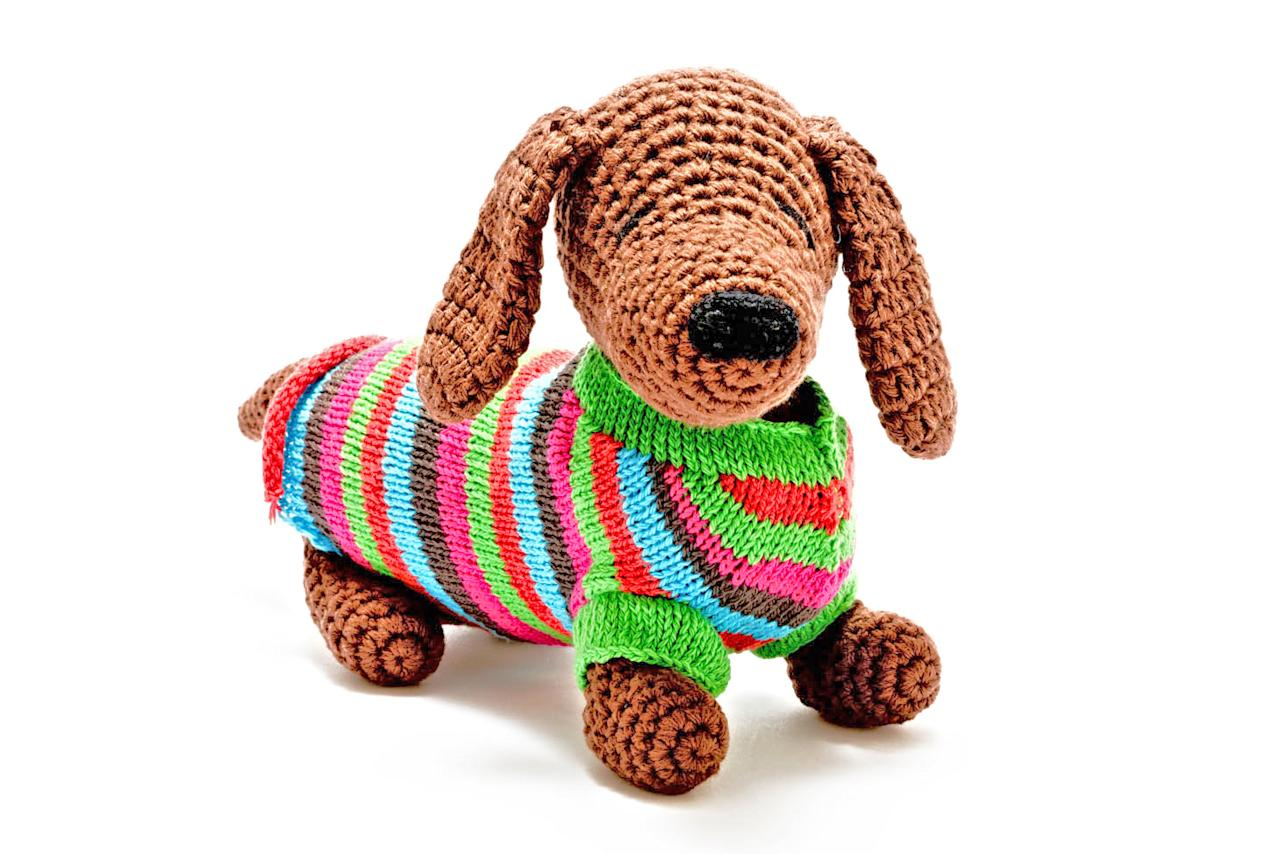 <p>Forget Bouncer the Boxer, it's all about this knitted sausage dog this Christmas. </p>
