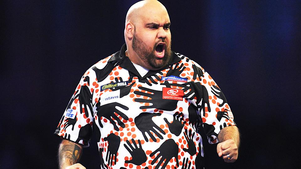 Kyle Anderson, pictured here in action at the 2019 World Darts Championship in London.