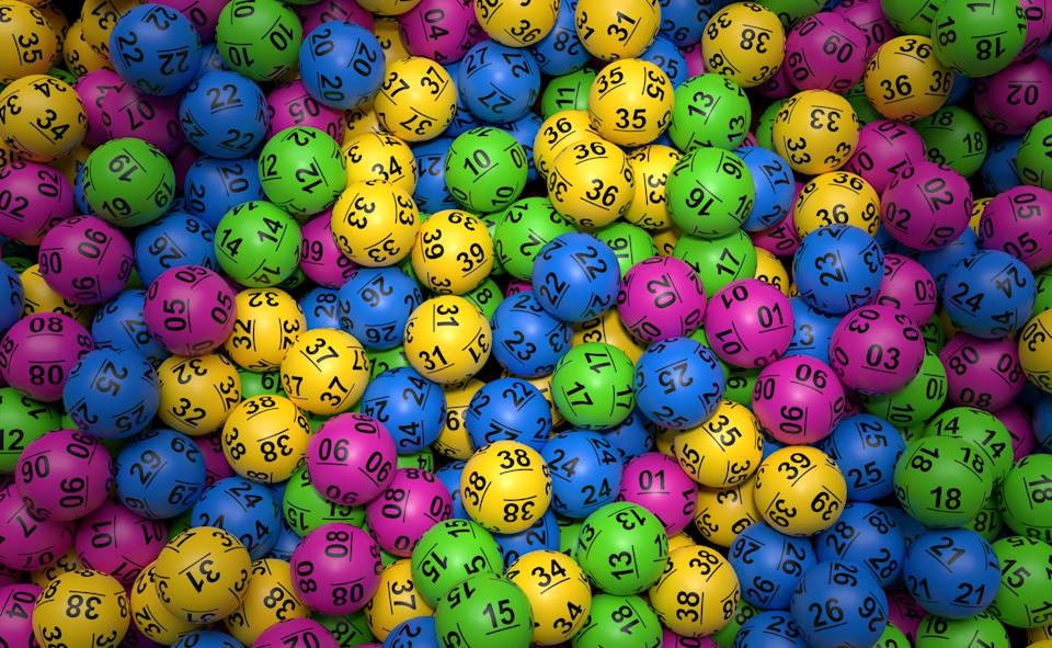 Stack of lottery balls. Source: Getty Images