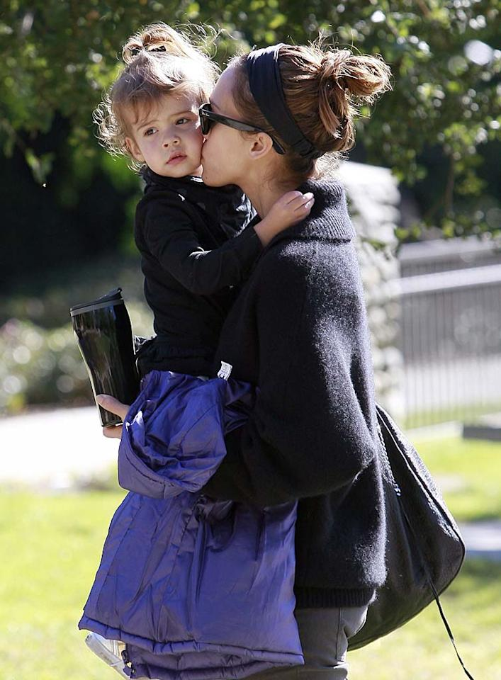 """Jessica Alba's daughter Honor Marie, who will turn 3 in June, will soon have a little brother or sister! The """"Sin City"""" star and hubby Cash Warren are expecting another bundle of joy this year. Headlinephoto/<a href=""""http://www.splashnewsonline.com"""" target=""""new"""">Splash News</a> - November 21, 2010"""