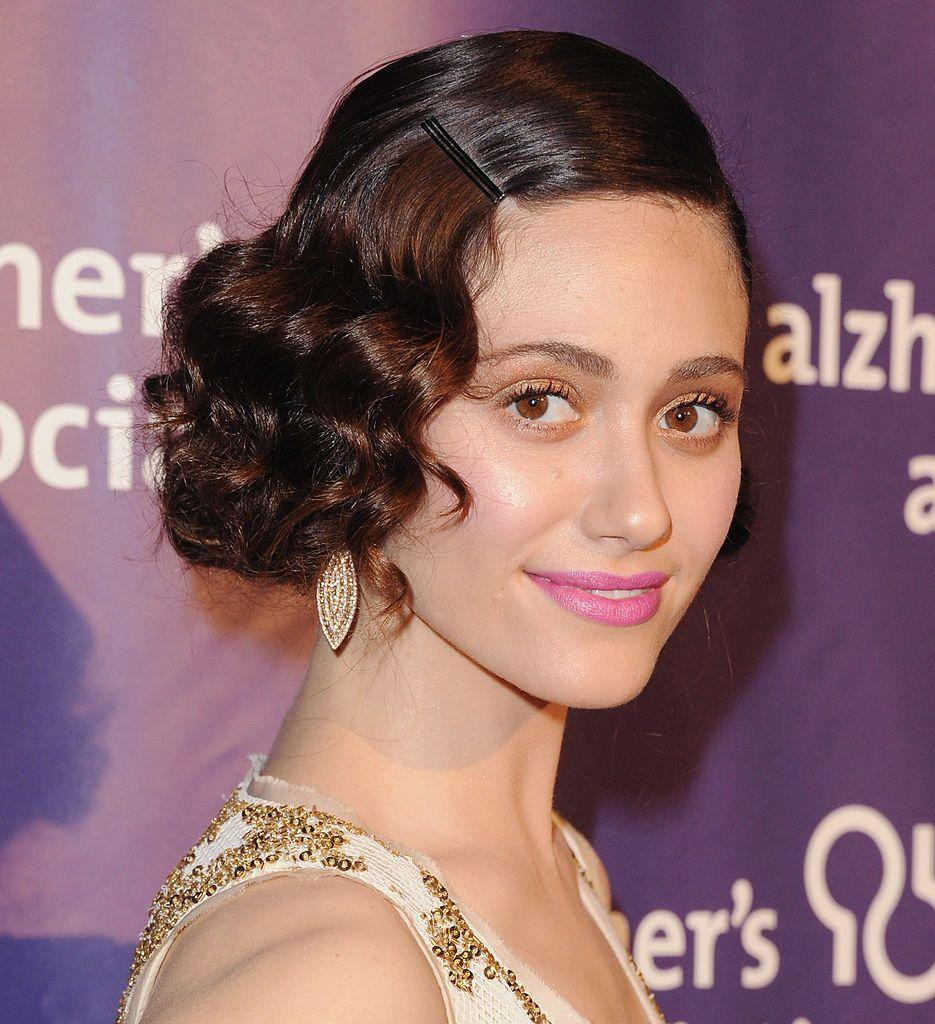 <p>This pretty pink lip on Emmy Rossum steals the show. It makes just enough of a statement without having to be as bold as a red lip. </p>