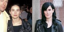 <p>At 27 years old, Demi Moore had already had a few notable roles in cinema, including Debbie in <em>About Last Night...</em> and Jules in <em>St. Elmo's Fire</em>. Rumer, her oldest daughter with Bruce Willis, has followed in <em>both </em>of her parents footsteps and by 27 had 31 acting credits to her name.</p>