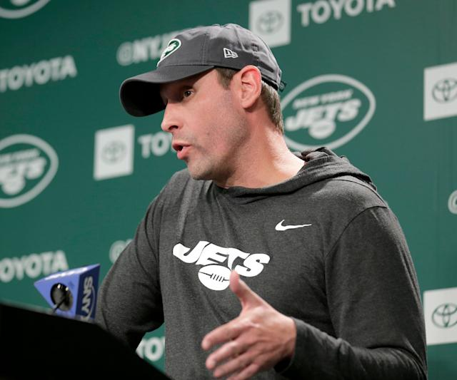 Jets head coach Adam Gase insists he had nothing to do with the firing of general manager Mike Maccagnan. (AP)