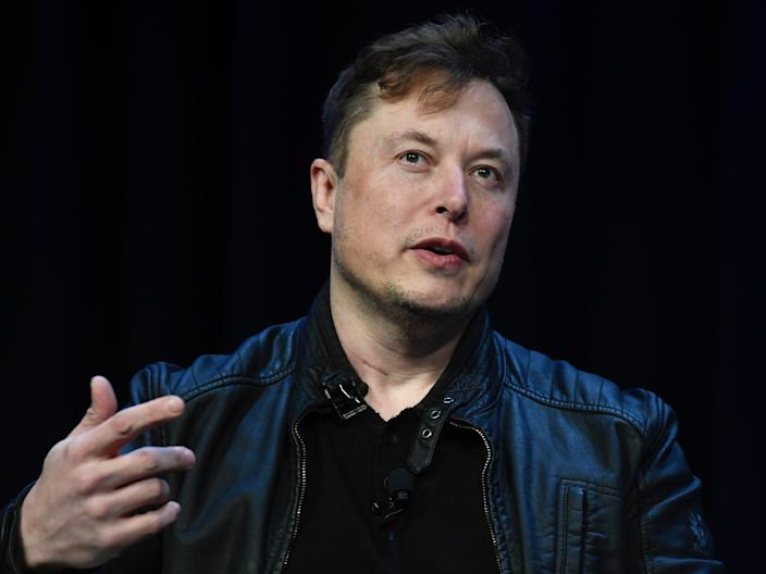 Elon Musk speaking at the Satellite Conference and Exhibition in Washington, Monday, March 9, 2020.