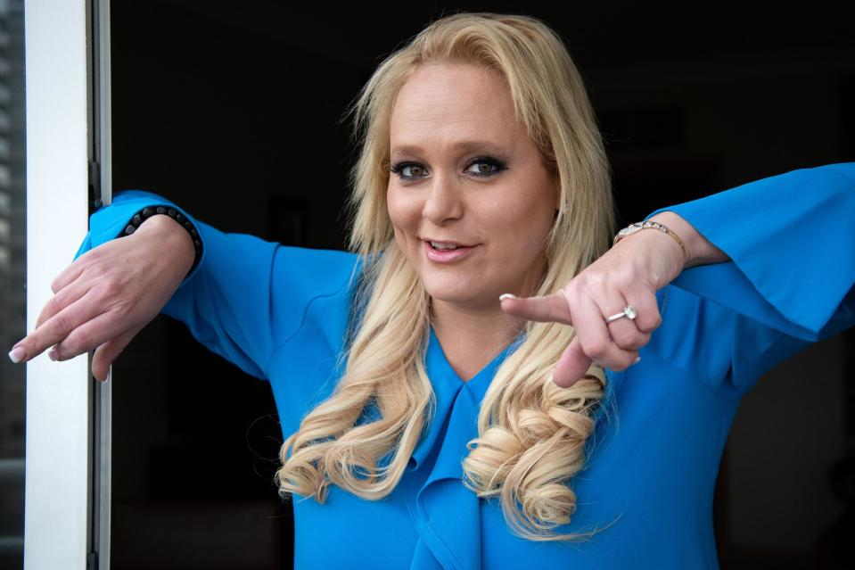 Tech Entrepreneur Jennifer Arcuri poses for a photograph in her hotel suite on November 19, 2019 (Getty Images)