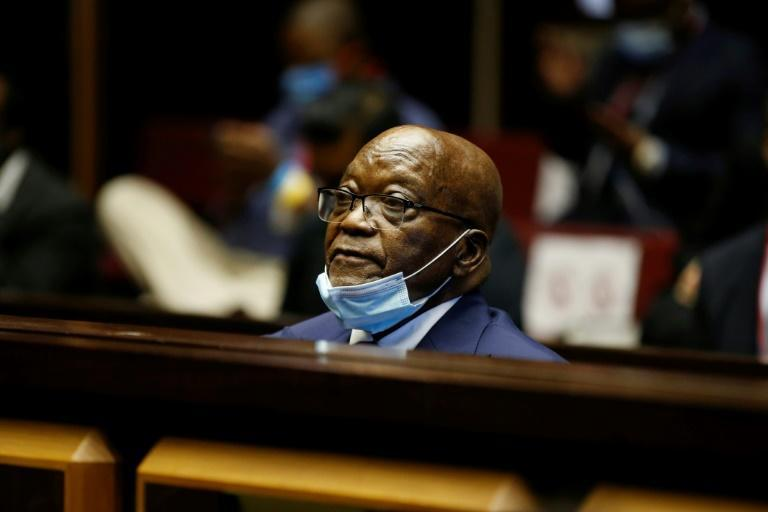 In the dock: Zuma, pictured on May 26 at his corruption trial in Pietermaritzburg