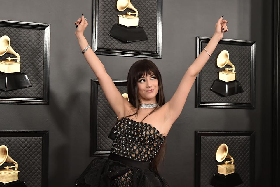 Camila Cabello attends the 62nd Annual Grammy Awards at Staples Center on January 26, 2020. (Photo by David Crotty/Patrick McMullan via Getty Images)