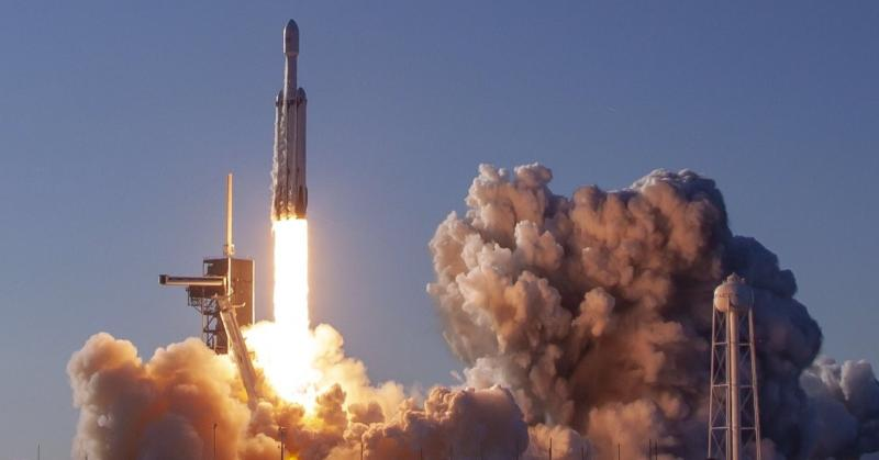 SpaceX launches the Falcon Heavy rocket on its first commercial mission