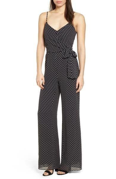 "Get it on <a href=""https://shop.nordstrom.com/s/michael-michael-kors-simple-dot-side-tie-jumpsuit/4826897?origin=category-personalizedsort&fashioncolor=BLACK%2F%20WHITE"" target=""_blank"">Nordstrom for $155</a>."