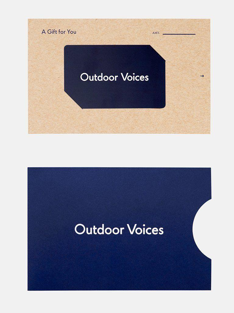 """<p><strong>Outdoor Voices</strong></p><p>outdoorvoices.com</p><p><a href=""""https://go.redirectingat.com?id=74968X1596630&url=https%3A%2F%2Fwww.outdoorvoices.com%2Fproducts%2Fgift-certificate%3Fvariant%3D12584624881742&sref=https%3A%2F%2Fwww.cosmopolitan.com%2Fstyle-beauty%2Ffashion%2Fg34229001%2Fbest-gift-card-ideas-to-give%2F"""" rel=""""nofollow noopener"""" target=""""_blank"""" data-ylk=""""slk:Shop Now"""" class=""""link rapid-noclick-resp"""">Shop Now</a></p><p>Did someone say """"spending more time than usual at home"""" just now?! If you know someone who has picked up a new workout routine over the last few months, they're gonna want some new workout clothes. This line has options for men and women, so grab a couple of these cards.</p>"""