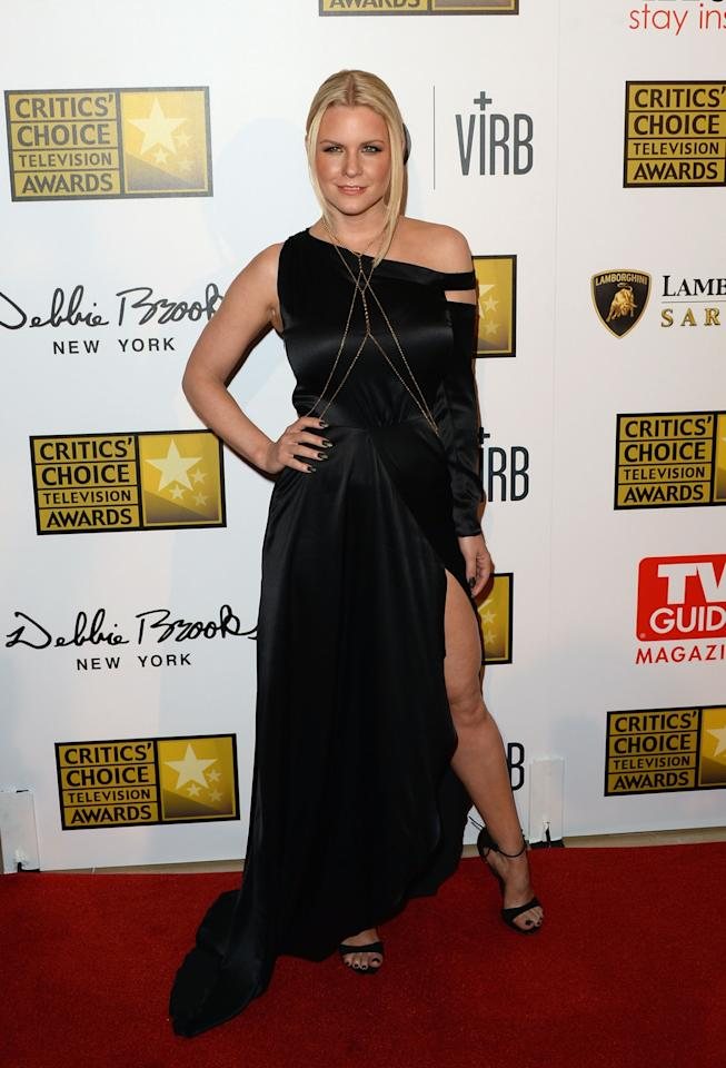 LOS ANGELES, CA - JUNE 10: TV personality Carrie Keagan arrives at Broadcast Television Journalists Association's third annual Critics' Choice Television Awards at The Beverly Hilton Hotel on June 10, 2013 in Beverly Hills, California. (Photo by Jason Merritt/Getty Images)