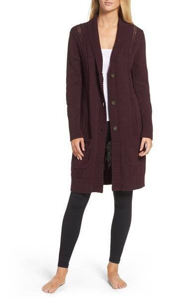 "40% off from $148. Get it <a href=""https://shop.nordstrom.com/s/ugg-hayley-long-cardigan/4611469?origin=category-personalizedsort&fashioncolor=PORT%20HEATHER"" target=""_blank"">here</a>."