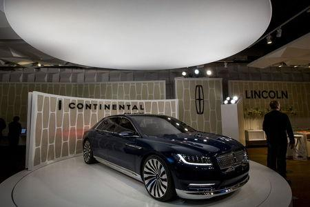 Ford Motor Co. unveils the Lincoln Continental concept car at an event ahead of the New York International Auto Show in New York