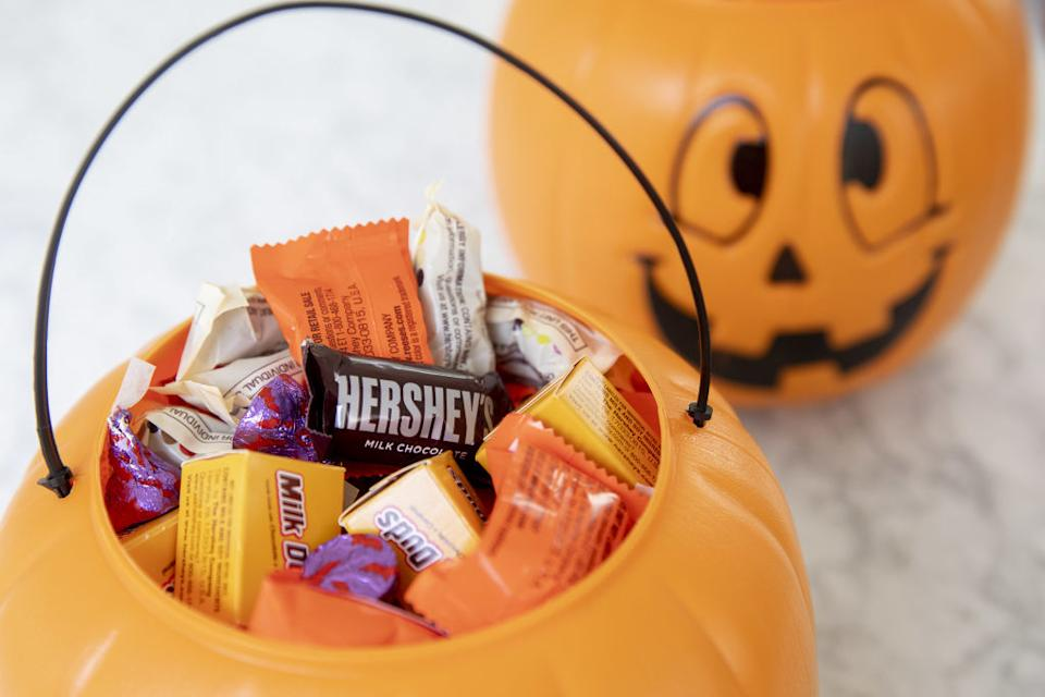 Hershey's chocolate is on sale - just in time for Halloween. Image via Getty Images.