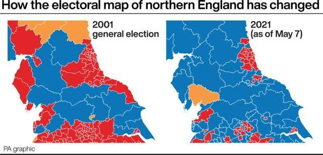 How the electoral map of northern England has changed